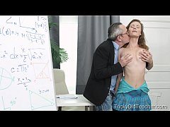 Tricky Old Teacher - Slutty student has sex wit...