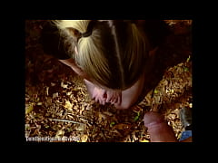 19 Year-old submissive drinks piss in woods, th...