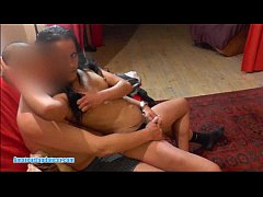 Cute gypsy teen lapdances and gets hot fingering