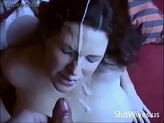 Homemade Amateur Wives Suck and Swallow Compilation