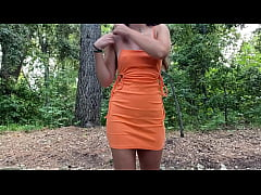 Beautiful outdoors Sex in a Public Park with Cum swallowing