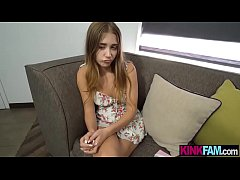 Credit card stealing stepsister teen fucked by her bro