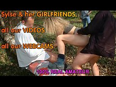 Gangbang dogging in forest and public orgy in p...