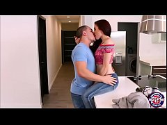 Redhead teen Kandi Quinn gets fucked by her ex lover with a big cock