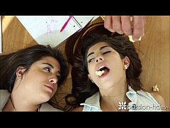 Passion-HD Teens take a break from studying to ...