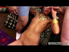 Threesome with pretty Indian model