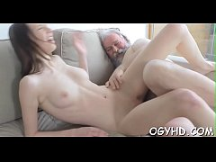 Horny young babe screwed...