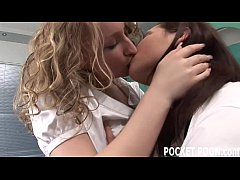 Teen lesbians experiment with ass licking