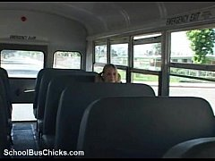 schoolbus shy girl gets a load