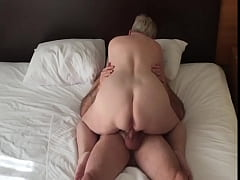 Mature Amateur rides a cock cowgirl and moans this is great