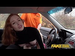 Fake Driving School Hot British Redhead Lenina ...