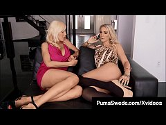 Busty Blondes Puma Swede & DD Ventura Fuck Cock for Food!