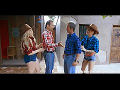 Cowgirl DAD DAUGHTER Gangbang- Britney Light & ...