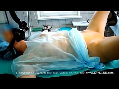 Gynecological exam on op table