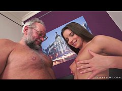 Young Anita Bellini on older dick