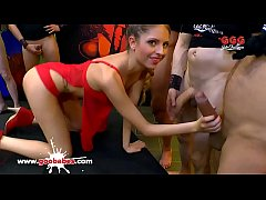 Super hot teen Rebecca Volpetti gets her pussy fucked hard by a huge cock and her mouth full of cum! German Goo Girls