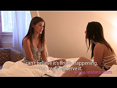 Lesbea HD Cute best friends share secret lesbia...