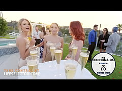 Three bridesmaids with wet tight pussies and on...