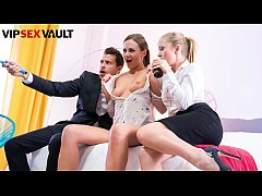 VIP SEX VAULT - Hot MILF Tina Kay Pussy Lick Sicilia And Bangs With Her Husband On Hot POV Threeway