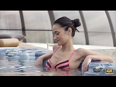 OLD4K. Wet fucking action in the jacuzzi with a...