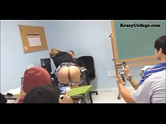 Student shows ass at class during lesson