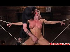 Blonde bdsm sub whipped...
