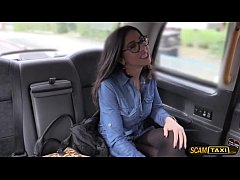 Sexy Julia gets ass fucked in the cab by the drivers long fat cock