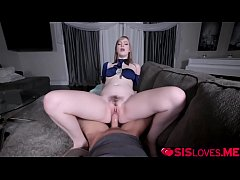 Clip sex Dolly Leigh loves riding her stepbros huge cock!