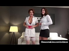 Smoking Cougars Deauxma & Taylor Ann Fuck Patie...