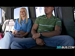 Amateur blonde Banged On The Bus 2.1