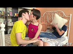 Clip sex Steamy hot trio sex with a virginal playgirl