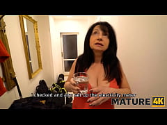 MATURE4K. After great blowjob guy makes it vaginally with busty mature