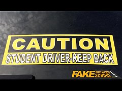 Fake Driving School Sexy emo gets her ass pound...