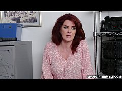 Clip sex Hot abd busty shoplifter MILF Andi James gave her pussy after being caught stealing and got fucked with the officer inside the office.