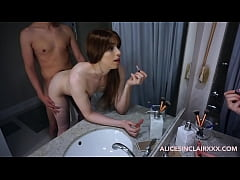 Sister gets fucked by big brother while getting ready for her date