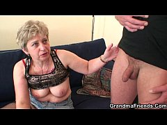 Nasty granny toying before...