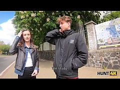 HUNT4K. Boy cant pay for his GF so she makes mo...
