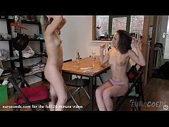 mira and landa strip poker and first time lesbian fingering in amsterdam apartment