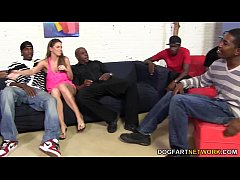 thumb brooklyn chase s first interracial gangbang