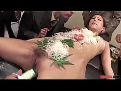 Business Men Eat Sushi out a Naked Girl 039 Body