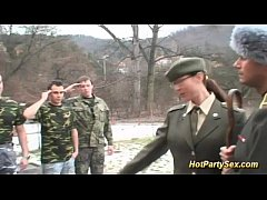 thumb military lady gets soldiers cum