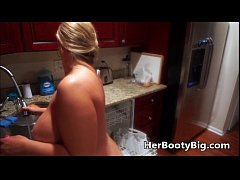 Naked Housewife Cleaning The...
