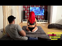 Redhead german gamer girl Amy Starr hardcore fuck