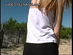 18 years old  blond teen at beach