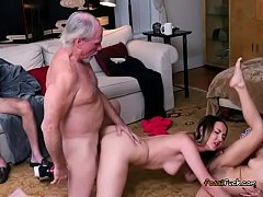 Teens Take Turns Getting Humped By Old Guy
