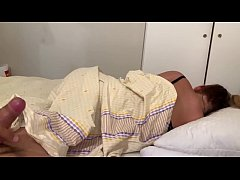 Jerking off while drunk step mom is sleeping an...