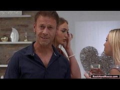 Two russian babes anal reamed by Rocco