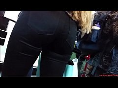 Fantastic Round Teen Ass in Black Jeans HD Free HD Porn 2a