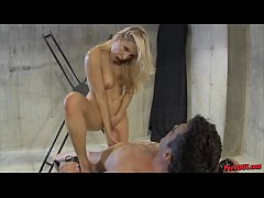 Ashley Fires Edges and Controls Her Slave's Orgasm Till He Explodes