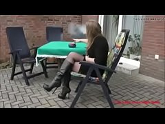 Best Mom Flashing in Boots Stockings. See pt2 a...